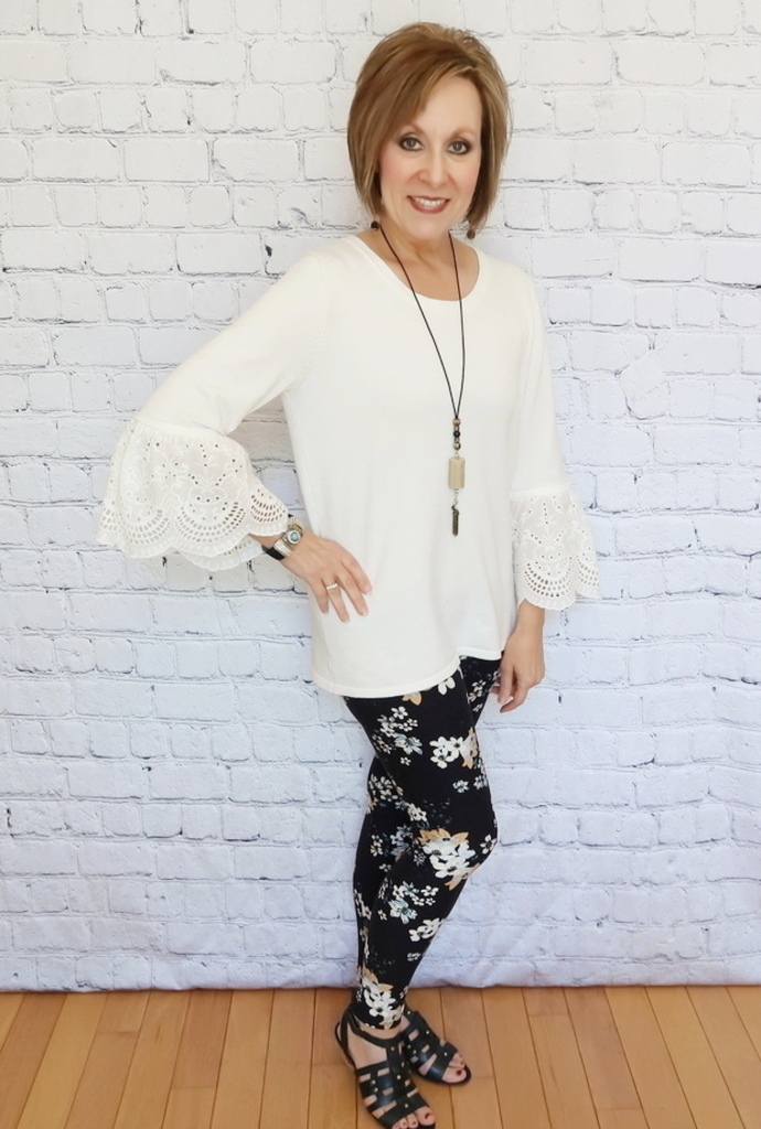 Floral Leggings 50 With Flair Over 40 Over 50