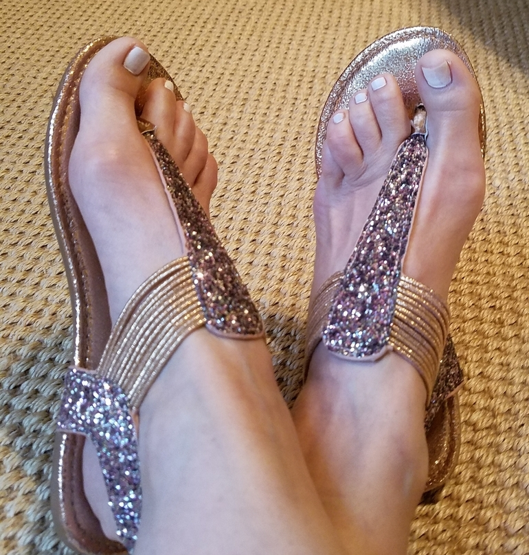 50 With Flair, Glitter Sandals from Versona