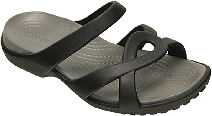 Black Crocs Twist Sandals, Comfortable Over 50 Shoes