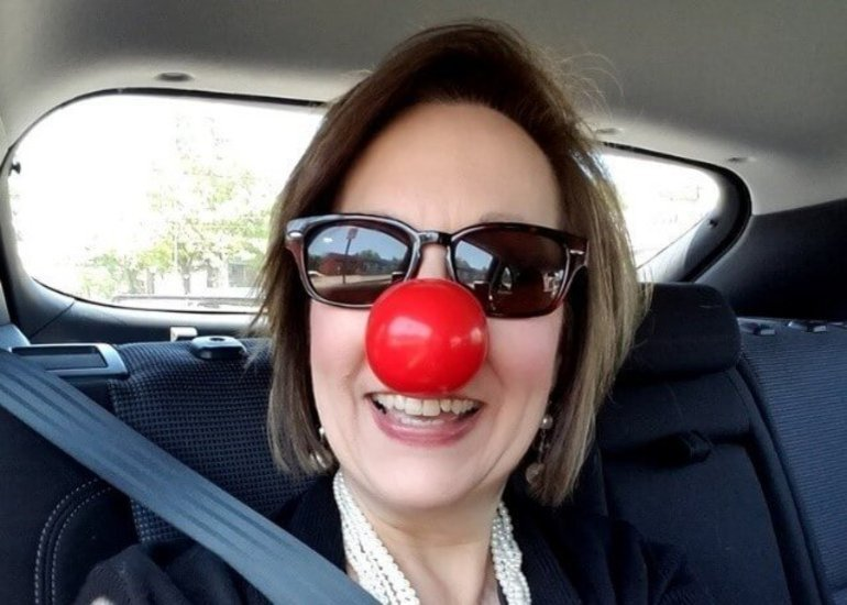 Red Nose Day, 50 With Flair, Midlife Circus Ring Master