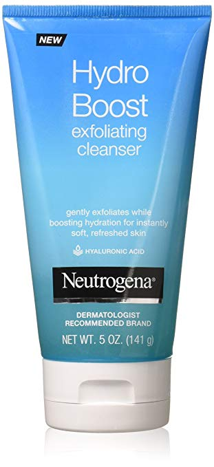 Neutrogena Hydro Boost Exfoliating Cleanser, 50 With Flair