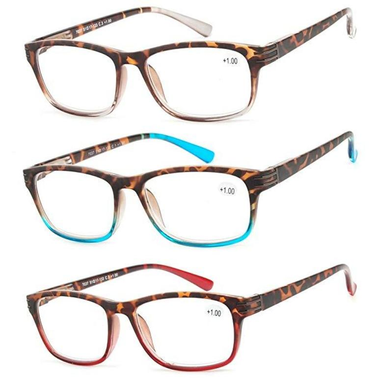 50 With Flair, Fashion Color 3-piece set of reading glasses, Success Eyewear, Amazon