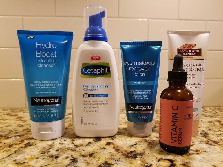 50 With Flair, Over 50 Skincare, Neutrogena, Cetaphil, Palmer's, Eve Hansen