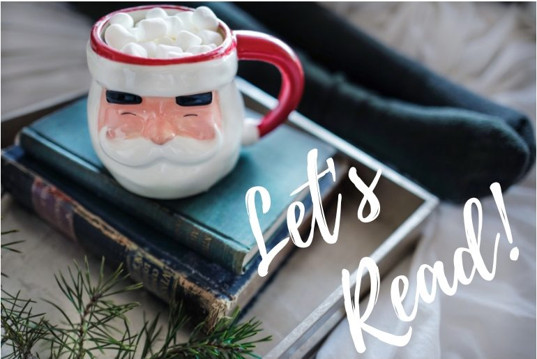 Reading, Santa Clause Mug, Christmas, Amazon Books, Christmas Books, Christmas Novella, 50 with Flair