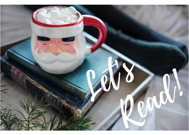 Reading, Santa Clause Mug, Christmas, Amazon Books, Christmas Books, Christmas Novella, 50 with Flair