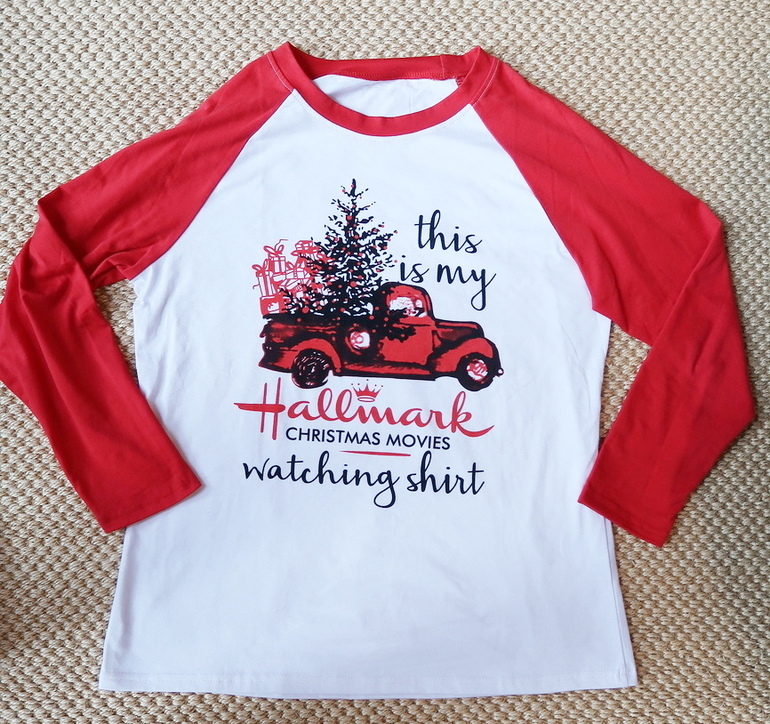 Hallmark t-shirt, Hallmark mug, Hallmark movies, christmas t-shirt, 50 With Flair, Fashion Over 50, Christmas gifts, Fitbit bands