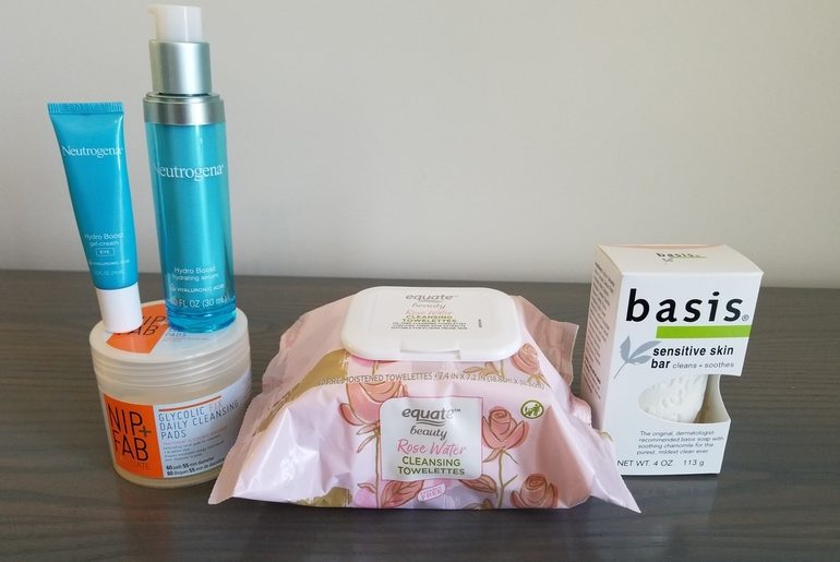 50 With Flair, Over 50, Over 50 Skincare, Neutrogena, Glycolic Acid, Nip and Fab, Serum, Eye Cream, Basis Soap, skincare, sensitive skin, Amazon, face wipes, eye makeup remover, glycolic pads